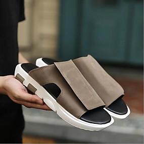 povoljno Muške papuče i japanke-Muškarci Udobne cipele Sintetika Proljeće ljeto Papuče i japanke Sive boje / Kava / Braon