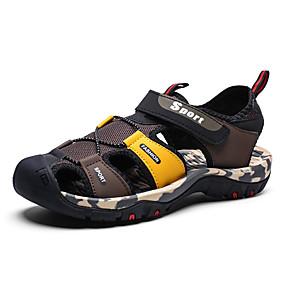 baratos Sandálias Masculinas-Homens Sapatos Confortáveis Com Transparência Primavera Verão Casual Sandálias Respirável Preto / Vermelho / Preto / Amarelo