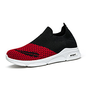 a33929056fa Γυναικεία Φουσκωτό πηνίο Ανοιξη καλοκαίρι Αθλητικό Αθλητικά Παπούτσια  Τρέξιμο Επίπεδο Τακούνι Στρογγυλή Μύτη Μαύρο / Ροζ / Μαύρο / Κόκκινο