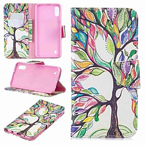 cheap Cellphone Case-Case For Samsung Galaxy Galaxy J6 Plus(2018) / J2 PRO 2018 Wallet / Card Holder / Flip Full Body Cases Tree Hard PU Leather for J6 (2018) / J6 Plus / J4 (2018)