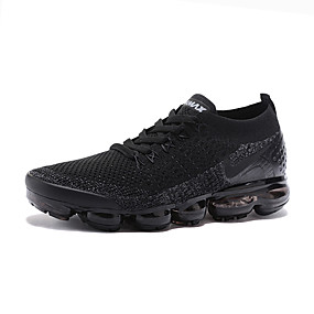 52e19fca5 Men s Light Soles Knit   Tissage Volant Spring   Summer   Fall   Winter  Sporty   Casual Athletic Shoes Running Shoes Breathable Black    Non-slipping ...