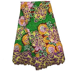 billige Sying og håndarbeid-Afrikansk blonder Folkestil Mønster 125 cm bredde stoff til Klær og mote selges ved 6Yard