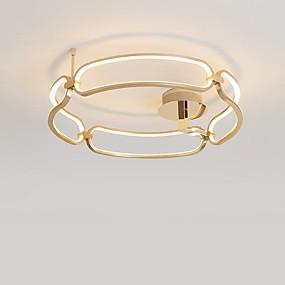 tanie Mocowanie przysufitowe-CONTRACTED LED® Okrągły / Latarnia / Nowość Lampy sufitowe Światło rozproszone Szczotkowany Aluminium Kreatywne, Nowy design 110-120V / 220-240V Ciepła biel / Biały