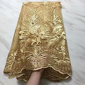 billige Sying og håndarbeid-Afrikansk blonder Blomster Mønster 120 cm bredde stoff til Klær og mote selges ved 5Yard