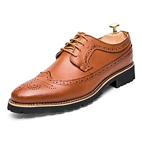 baratos Oxfords Masculinos-Homens Sapatos formais Sintéticos Primavera / Outono Casual / Formais Oxfords Não escorregar Preto / Marron