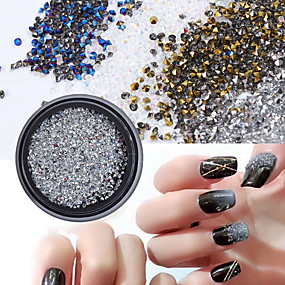 Rhinestones & Decorations Well-Educated 1 Box Alloy Nail Art Wheel Tips Glitter Rhinestone Nail Accessoires 12 Designs Crystal Jewelry Nail Decoration For Diy Manicure