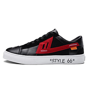 baratos Tênis Masculino-Homens Sapatos Confortáveis Microfibra Primavera Tênis Preto / Vermelho / Branco / Preto