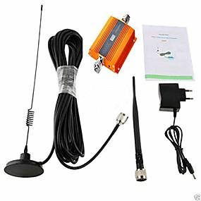 billige Signalforsterkere-lcd 2g / 3g / 4g gsm 900mhz mobiltelefonsignal booster singal repeaterforsterker + antennesett ul 890-915mhz dl 935-960mhz for hjem og bygg
