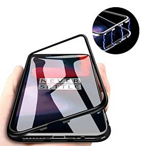 olcso Mobiltelefon tokok-Case Kompatibilitás OnePlus One Plus 7 / One Plus 7 Pro Mágneses Fekete tok Egyszínű Kemény Hőkezelt üveg mert OnePlus 6 / One Plus 6T / One Plus 7