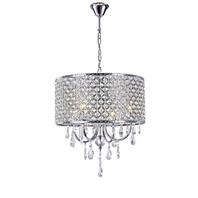 cheap Ceiling Lights & Fans-High-grade living room chandelier European luxury crystal iron pendant lamp study bedroom dining room lamps and lanterns