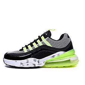baratos Sapatos Esportivos Masculinos-Homens Sapatos Confortáveis Com Transparência Verão / Outono Esportivo / Casual Tênis Corrida / Caminhada Não escorregar Branco e Preto / Preto / verde / Laranja