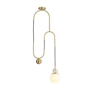 billige Hengelamper-Originale Anheng Lys Omgivelseslys Antikk Messing Metall Glass Nytt Design 110-120V / 220-240V Varm Hvit / Hvit