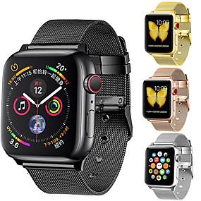 voordelige Smartwatch-accessoires-Horlogeband voor Apple Watch Series 4 Apple Moderne gesp Roestvrij staal Polsband