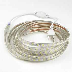 رخيصةأون تصفية-15m شرائط قابلة للانثناء لأضواء LED 900SMD المصابيح 5050 SMD أبيض دافئ / أبيض / أحمر ضد الماء / قابل للقص / حزب 220-240 V
