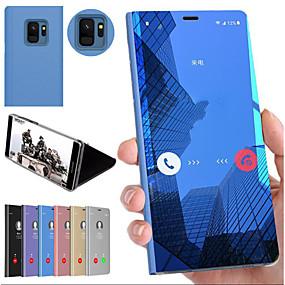 halpa Puhelimen kuoret-Etui Käyttötarkoitus Samsung Galaxy S9 / S9 Plus / S8 Plus Iskunkestävä / Tuella / Peili Takakuori Yhtenäinen Kova PC