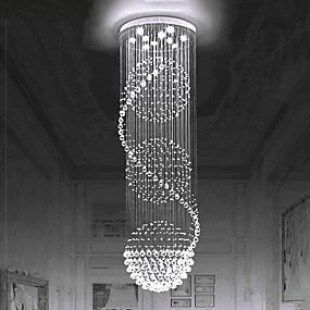 hesapli Gömme Montaj-Avrupa kristal avize merdiven kristal lamba döner merdiven lambası çift merdiven lambası oturma odası lambası