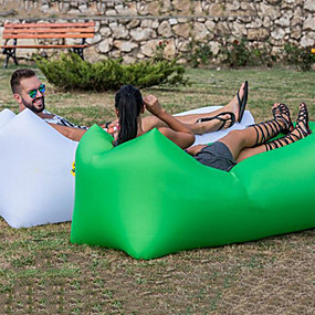 cheap Daily Deals-Air Sofa Inflatable Sofa Sleep lounger Air Bed Outdoor Camping Waterproof Portable Moistureproof Design-Ideal Couch 260*70 cm Oxford Camping / Hiking Beach Traveling for 1 person