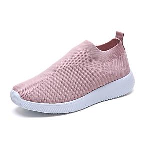 voordelige Damessneakers-Dames Sneakers Platte hak Tissage Volant Lente zomer / Herfst winter Stoffige roos / Zwart / Blauw