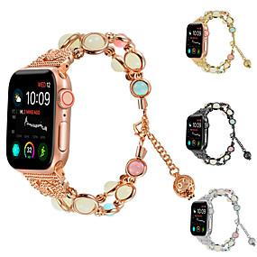 זול להקות Smartwatch-צפו בנד ל Apple Watch Series 4 Apple עיצוב תכשיטים קרמי רצועת יד לספורט