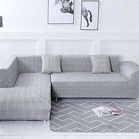 billige Nyheter-Sofatrekk Romantik Garn Bleket Polyester / bomullsblanding slipcovere