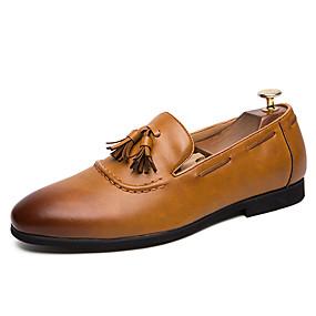 baratos Sapatos Náuticos Masculinos-Homens Sapatos formais Sintéticos Outono / Primavera Verão Clássico / Casual Sapatos de Barco Não escorregar Estampa Colorida Preto / Marron / Sapatos de vestir