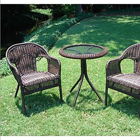 cheap Outdoor Furniture-Outdoor Wicker Resin Patio Furniture Bistro Set in Mocha