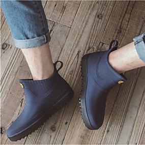 baratos Botas Masculinas-Homens Botas de Chuva PVC Outono / Primavera Verão Botas Azul Escuro / Cinzento / Azul Claro