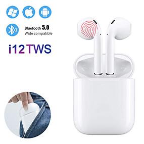billige Hodetelefoner og hodetelefoner-i12 tws ekte trådløs Bluetooth 5.0 øretelefoner berøringsstyring øreplugger 3d surroundlyd