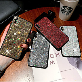 cheap iPhone Cases-Case For Apple iPhone XS Max / iPhone 6s Rhinestone / Glitter Shine Back Cover Glitter Shine Soft TPU for iPhone XS / iPhone XR / iPhone XS Max