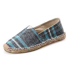 voordelige Damesinstappers & loafers-Dames Loafers & Slip-Ons Platte hak Ronde Teen Canvas minimalisme Lente zomer Groen / Rood