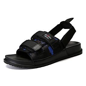 baratos Sandálias Masculinas-Homens Sapatos Confortáveis Tricô / Poliester Primavera Verão Casual Sandálias Respirável Preto / Vermelho / Azul