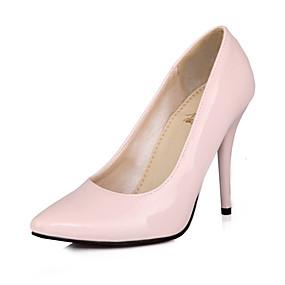 baratos Stilettos-Mulheres Couro Ecológico Verão Saltos Salto Agulha Dedo Apontado Verde / Azul / Rosa claro / Festas & Noite