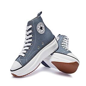 voordelige Damessneakers-Dames Sneakers Sexy Schoenen Creepers Ronde Teen Canvas Informeel / minimalisme Lente zomer Roze / Lichtblauw / Luipaard / leuze