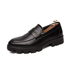 cheap Men's Slip-ons & Loafers-Men's Novelty Shoes Faux Leather Spring & Summer Casual / British Loafers & Slip-Ons Non-slipping Black / Party & Evening / Party & Evening