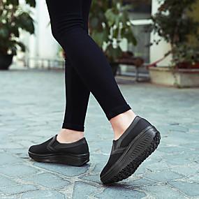 voordelige Damessneakers-Dames Sneakers Sleehak Netstof Lente zomer Zwart / Fuchsia / Blauw
