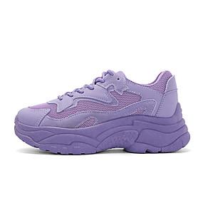 baratos Sapatos Esportivos Femininos-Mulheres Tênis Creepers Ponta Redonda Camurça Casual / Paizinho Tênis Corrida Inverno Branco / Roxo / Rosa claro