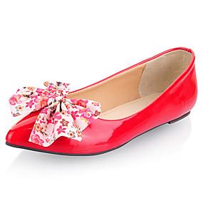 voordelige Damesschoenen met platte hak-Dames Platte schoenen Platte hak Lakleer Lente / Lente zomer Zwart / Rood / Blauw / Feesten & Uitgaan