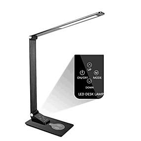 halpa Työpöytävalaisimet-led-pöytävalaisin usb-portin premium-metalli-toimistovalaisimella langattomalla laturilla silmänhoitava työpöytävalaisin upseerityöntekijän kosketusohjausmuistitoimintoon 3 valaistustilaa&5 kirkka