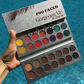 hesapli Göz Farları-1 adet yeni güzellik sırlı profesyonel makyaj 63 renkler göz farı paleti pigment mat makyaj paleti kozmetik