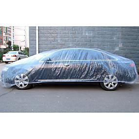 voordelige Autohoezen-wegwerp auto cover waterdicht transparant plastic stofdicht cover auto regen covers