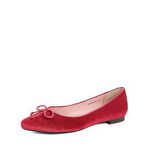 voordelige Damesschoenen met platte hak-Dames Platte schoenen Comfort schoenen Platte hak Suède Lente Grijs / Paars / Rood