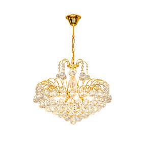 hesapli Oprawy oświetleniowe-Modern avrupa lüks stil kristal avize altın renk piramit kolye ışık romantik fransız kristal chandelie paslanmaz çelik çerçeve aydınlatma