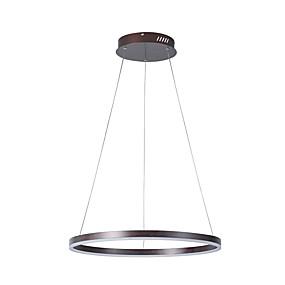 billige Hengelamper-led anheng lys ring anheng lampe dimbar led lysekroner sirkel soverom spisebord overhead lys justerbar takbelysning armaturer fjernkontroll