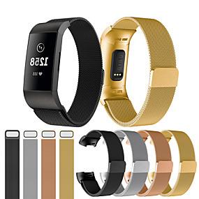 povoljno Novo u ponudi-Pogledajte Band za Fitbit Charge 3 Fitbit Sportski remen / Preklopna metalna narukvica Nehrđajući čelik Traka za ruku