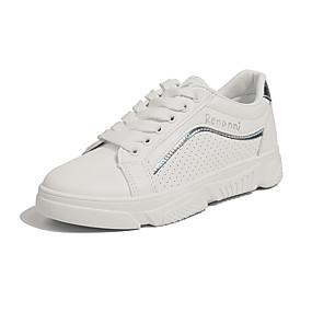 baratos Sapatos Esportivos Femininos-Mulheres Tênis Creepers Couro Ecológico Corrida / Caminhada Primavera & Outono Prata / Rosa claro