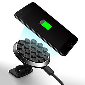 abordables Nouvelles arrivées en août-Support de téléphone portable avec chargeur sans fil à ventouse rotative à 360 degrés