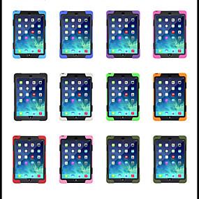 billige Tablettilbehør-Etui Til Apple iPad Air / iPad 4/3/2 / iPad Mini 3/2/1 360° Rotation / Med stativ Bagcover Ensfarvet Blødt Silikone / Plast