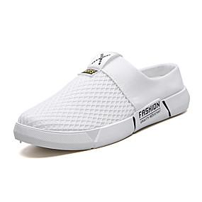 baratos Sapatilhas e Mocassins Masculinos-Homens Sapatos Confortáveis Lona Verão Mocassins e Slip-Ons Respirável Preto / Branco e Preto / Branco