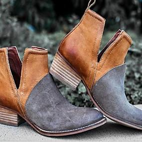 voordelige Damesschoenen met platte hak-Dames Platte schoenen Blok hiel Ronde Teen PU Zomer Zwart / Bordeaux / Bruin