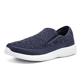 baratos Sapatilhas e Mocassins Masculinos-Homens Sapatos Confortáveis Com Transparência Verão Casual Mocassins e Slip-Ons Caminhada Respirável Preto / Cinzento / Azul